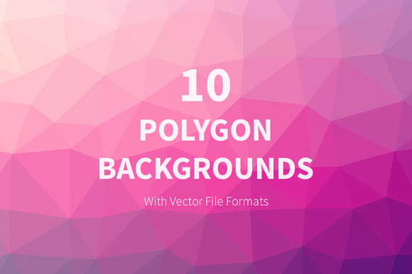 10 Polygon Backgrounds In Vector
