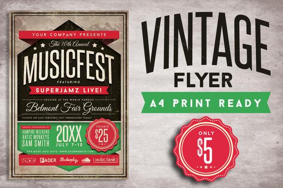 Vintage Flyer - Flyers - 1