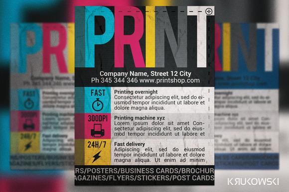 Print Shop Flyer ~ Flyer Templates on Creative Market