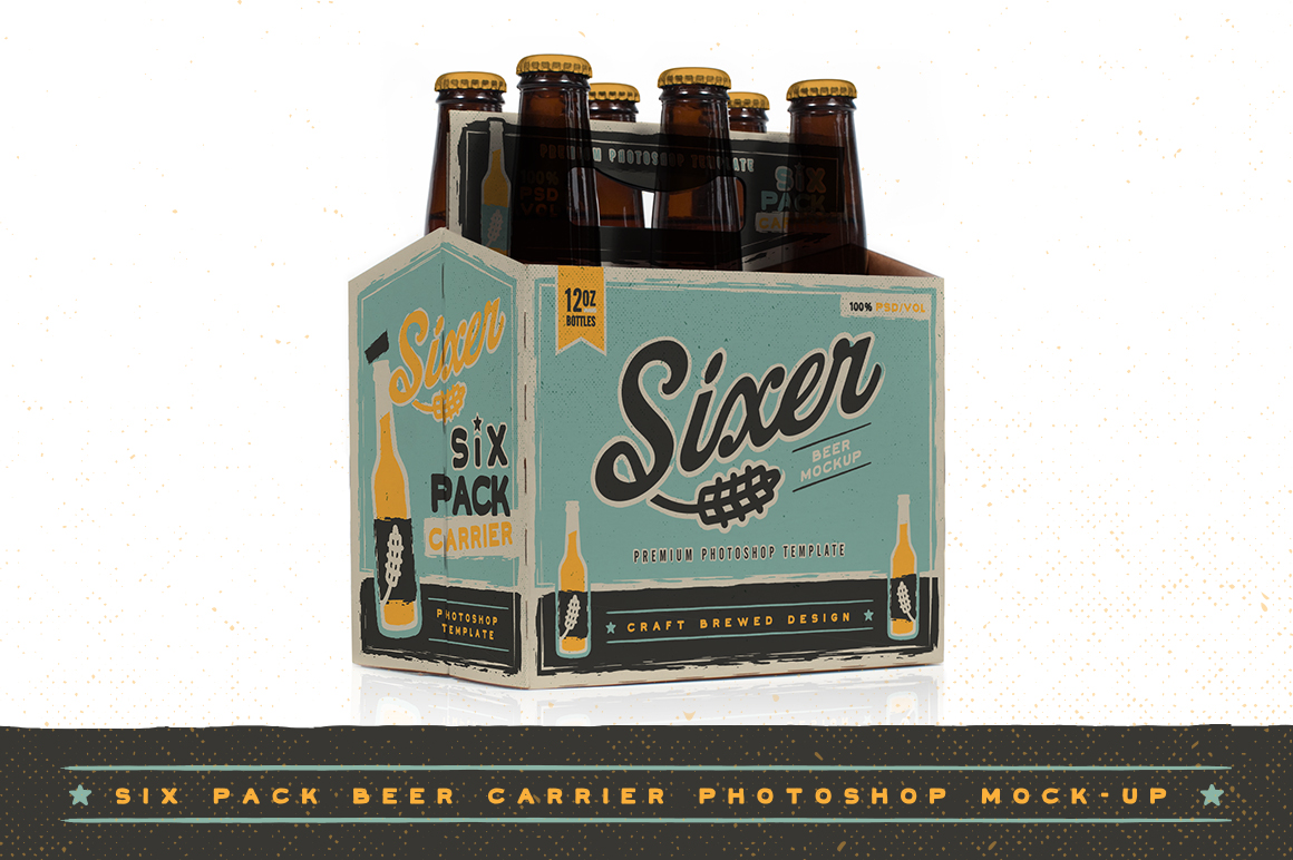 six pack carrier template - six pack beer bottle carrier mock up product mockups on