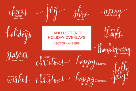 Hand Drawn Holiday Overlays
