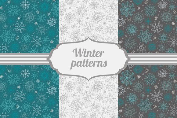 Seamless Winter Patterns