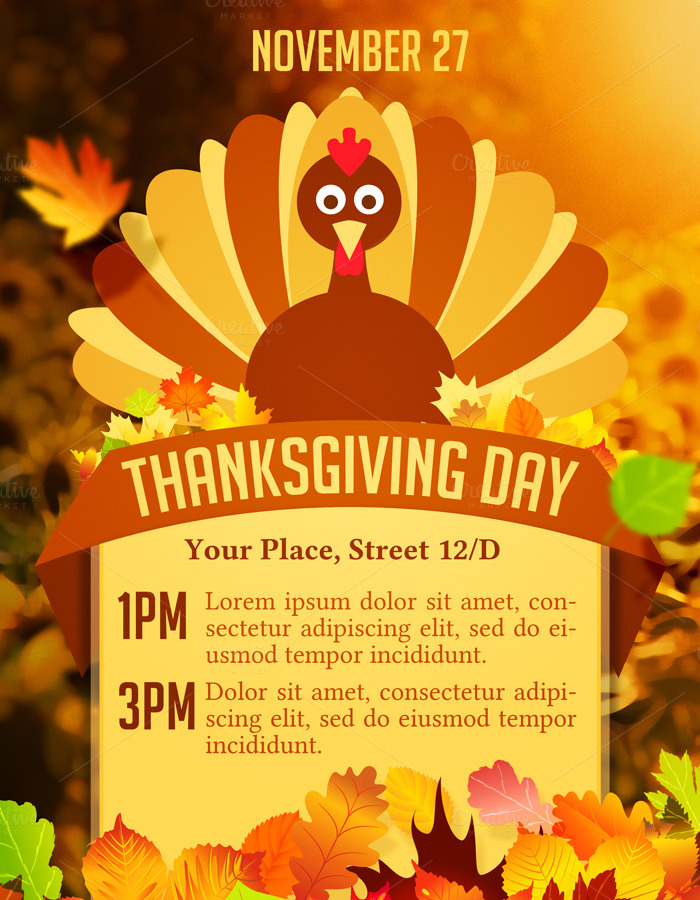 Decisive image with regard to free printable thanksgiving flyer templates