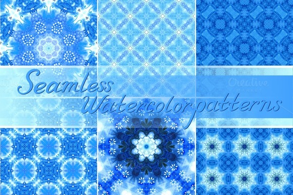 Set 20 Seamless Watercolor Patterns