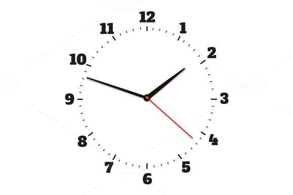 Round Office Clock Set