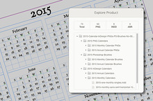 2015 Calendars for Photoshop