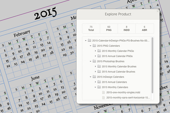 2015 calendars for photoshop flyer templates on creative market