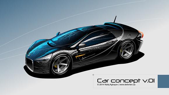 Luxury sports car. Original design - Illustrations