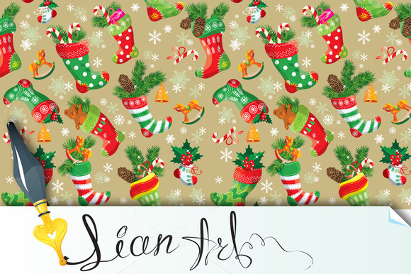 X-mas And New Year Background 2