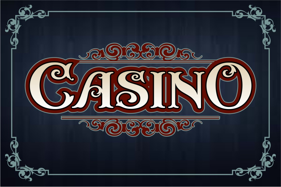 casino schrift