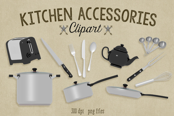 Kitchen Accessories Clipart