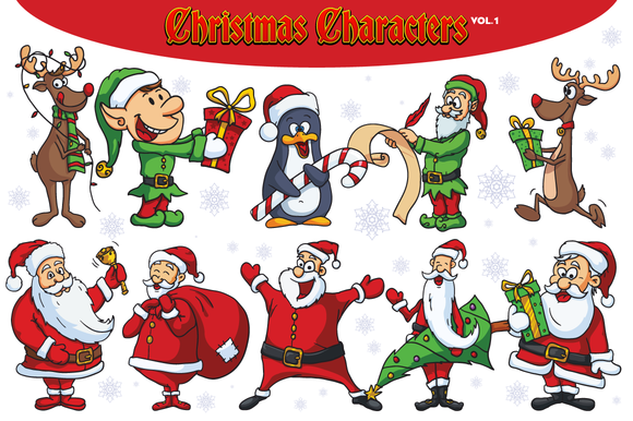 Christmas Vector Characters Vol.1 - Illustrations