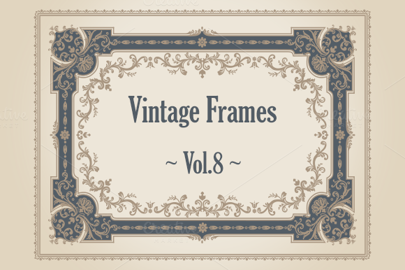 24 Vintage Frames. Vol.8 - Illustrations