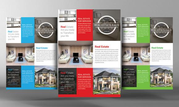 real estate flyer template flyer templates on creative market. Black Bedroom Furniture Sets. Home Design Ideas