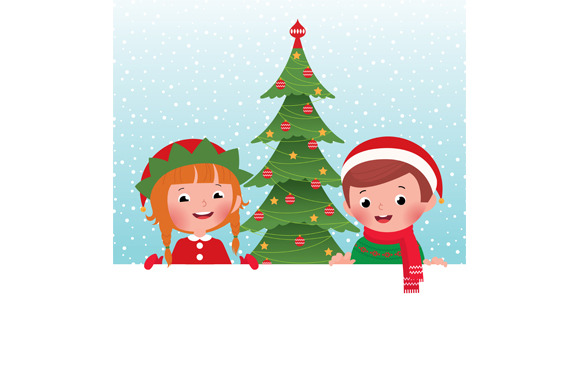 Christmas Elf And Santa Claus
