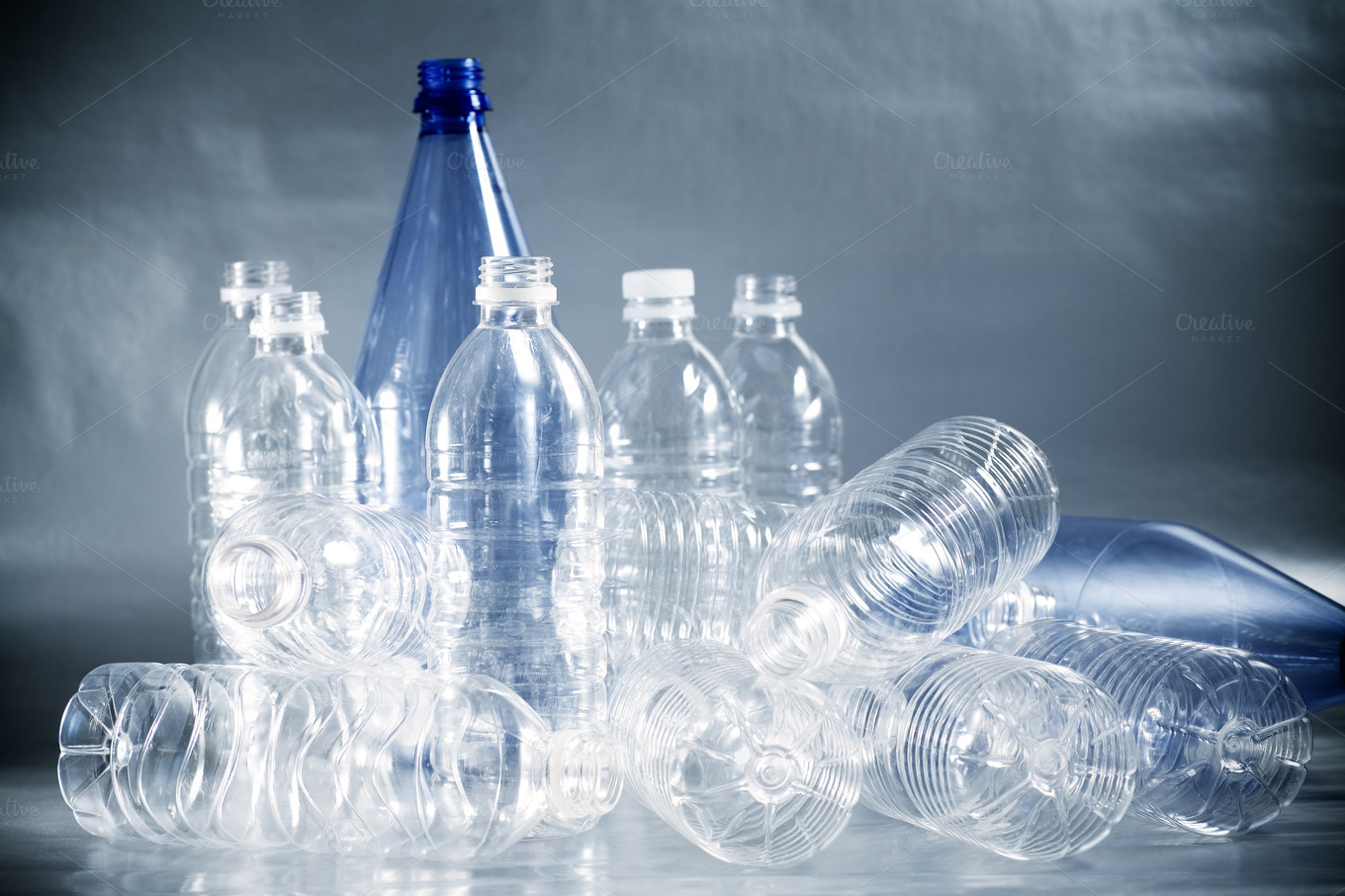 Empty plastic water bottles industrial photos on for Creativity with plastic bottles