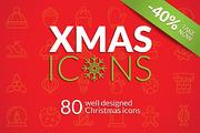 Christmas Icons Set-Graphicriver中文最全的素材分享平台