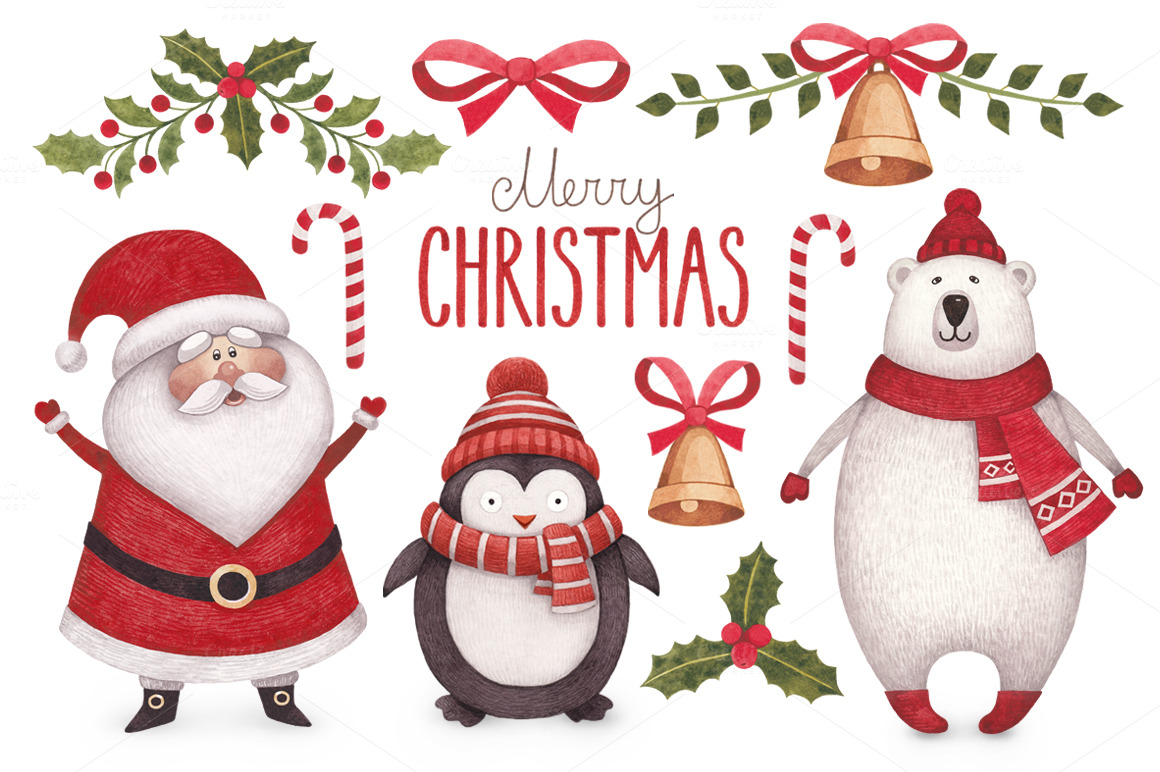 cute christmas illustrations   illustrations on creative Christmas Invitation Templates Free Download free clipart christmas invitations