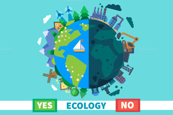 Ecology. Environmental protection - Illustrations