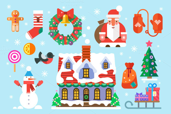 Symbols Of New Year And Christmas