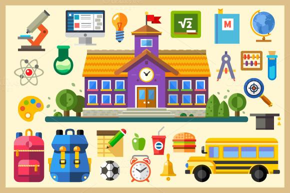 Education. School and University - Illustrations