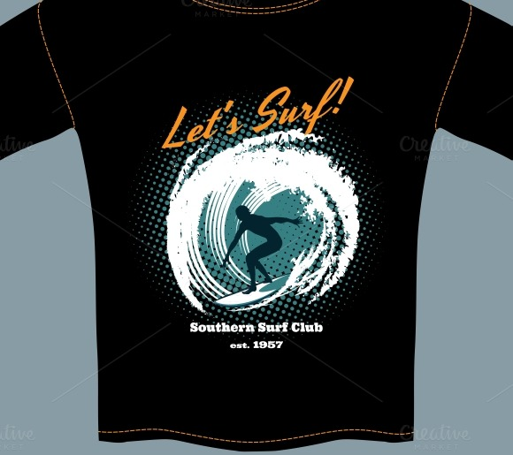 Southern Bliss Blog Haunting Halloween Cocktails: Surf Club T-shirt Template Design