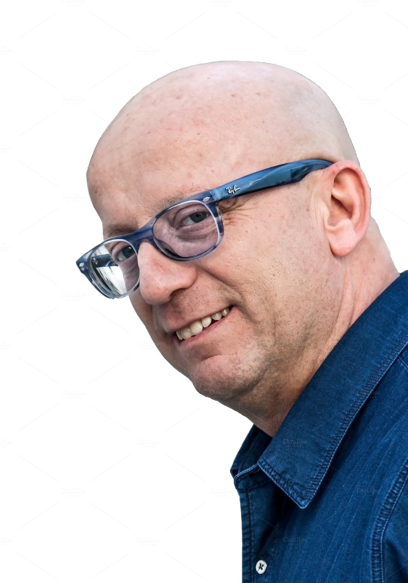 Фото лысый парень в очках 5 фотография