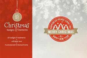 Christmas Badges. Set #2