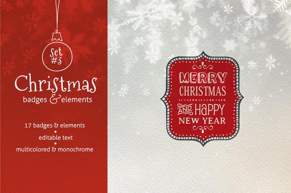 Christmas Badges. Set #3 - Graphics