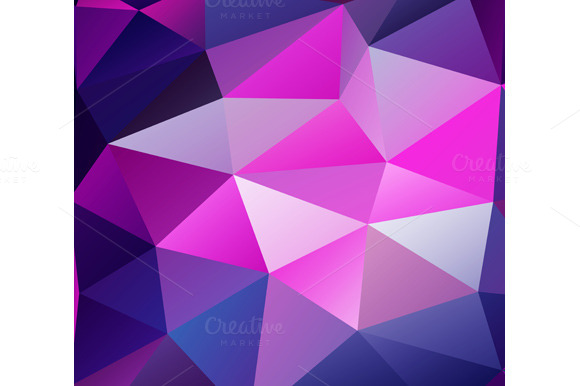 Purple Polygonal Abstract Background: Triangle Background. Purple Polygons