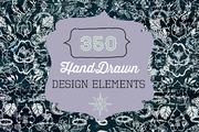 350 Hand Drawn Design Eleme-Graphicriver中文最全的素材分享平台