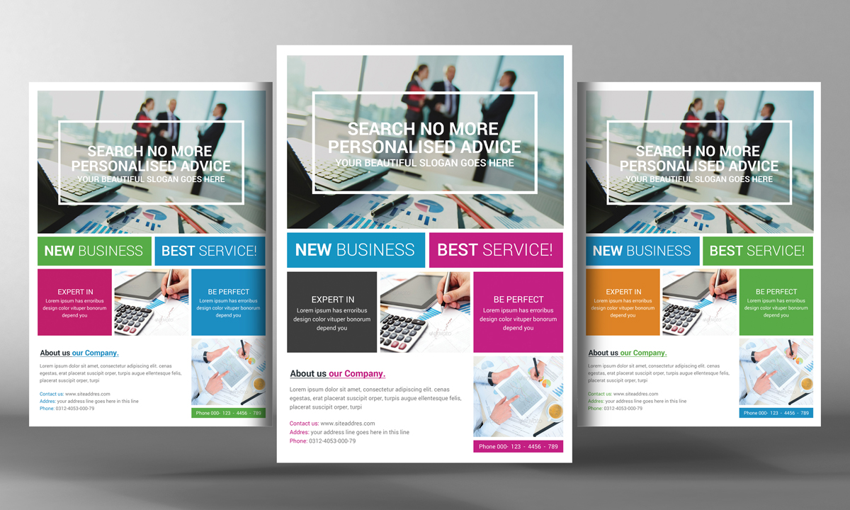 Marketing flyer template flyer templates on creative market for Marketing brochure templates free