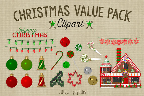 Christmas Value Pack Clipart