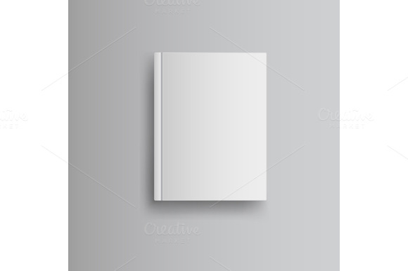 Blank Book Cover Template : Blank book cover graphics on creative market