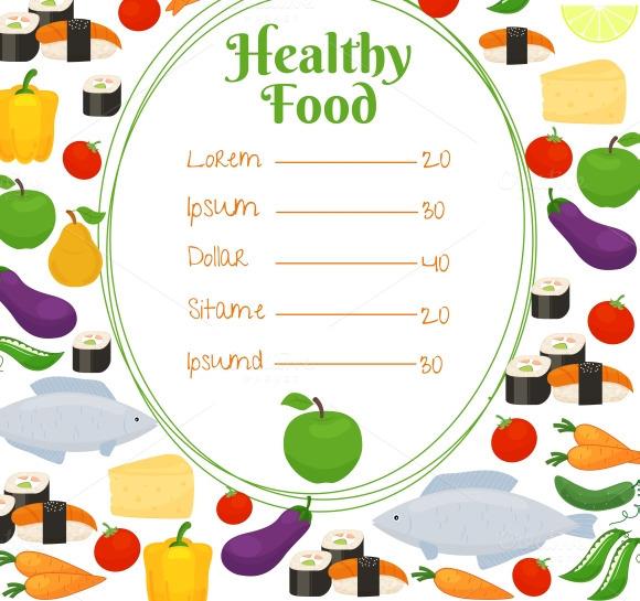 Healthy Food Menu Template