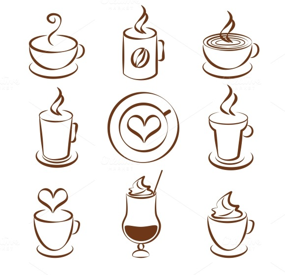 coffee cup vector symbols ~ Icons on Creative Market