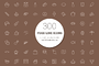 300 Food Line Icons-Graphicriver中文最全的素材分享平台