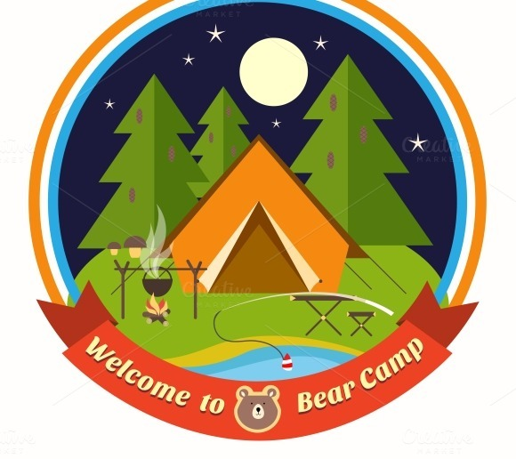 Welcome To Bear Camp Badge