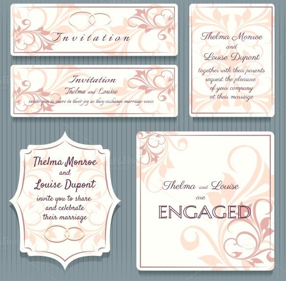 Wedding Invitation Card Elemets