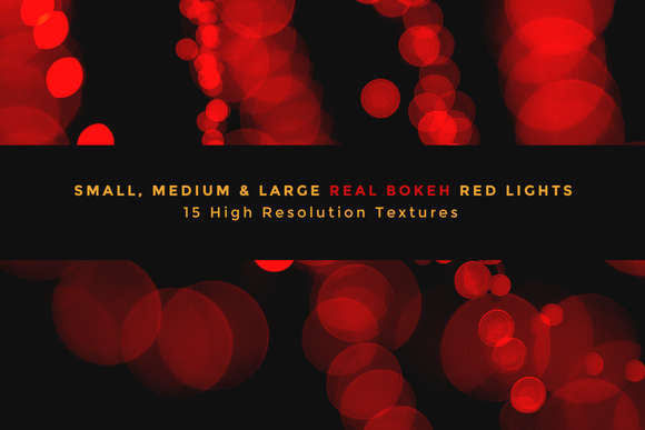 Real Bokeh Lights Holiday Red