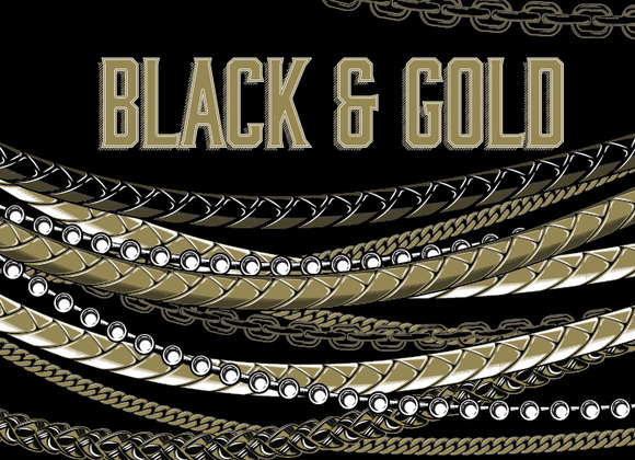 Black Gold Art Brush Pattern