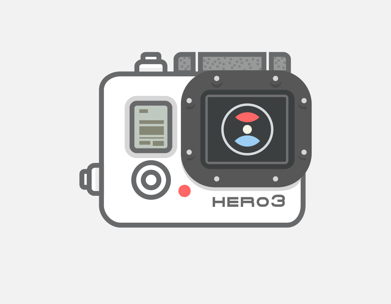 Video camera gopro vector icon illustrations on for Gopro studio templates download