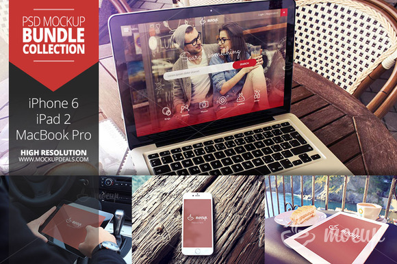 4 PSD Mockups Collection 1