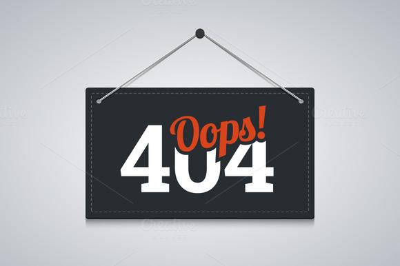 404 Sign For Website Server Error