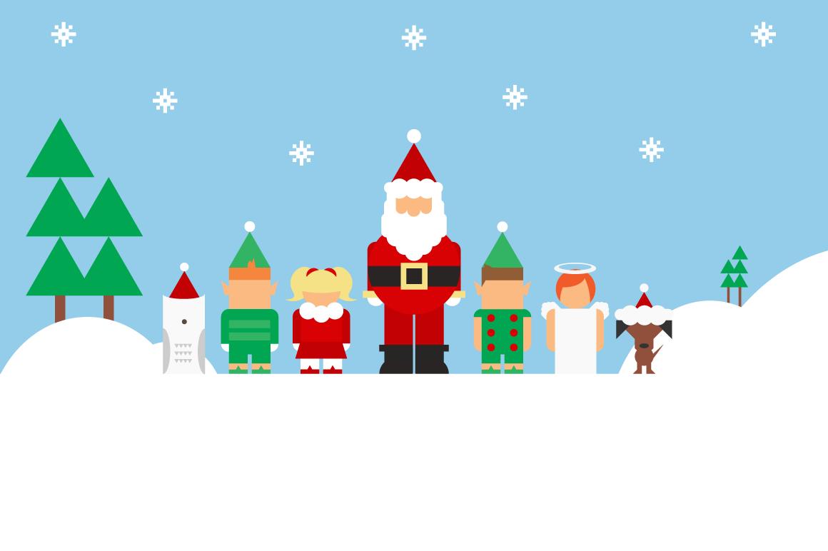 dad santa and kid elves