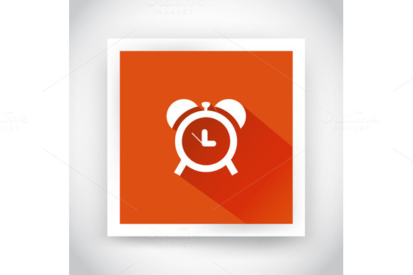 Icon Of Alarm Clock For Web
