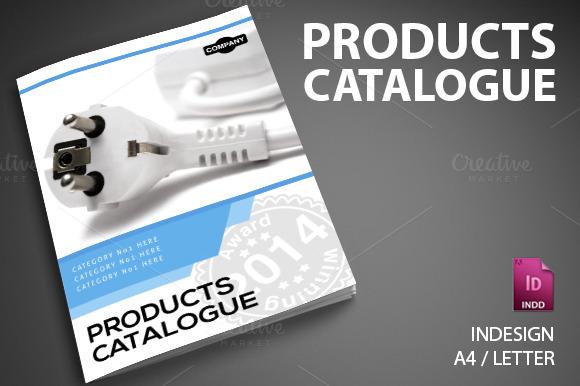 Product catalog 6 brochure templates on creative market for Product brochure templates free