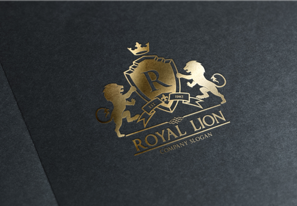 royal lion logo design