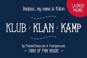 Koton Kollection font - launch promo