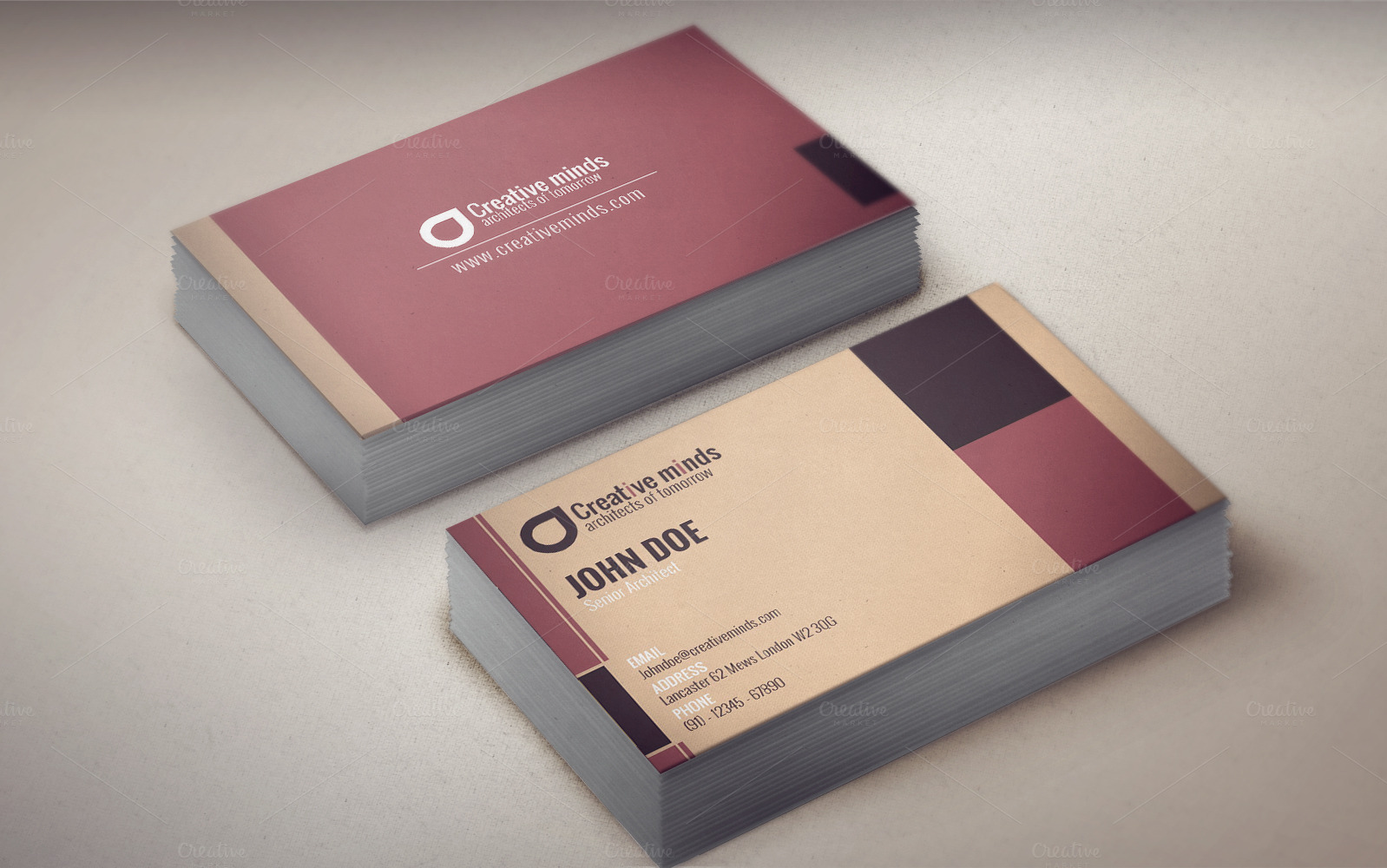 Artexmodern business card template business card for Modern business cards templates